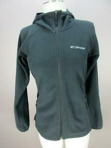 COLUMBIA SIZE XS WOMENS BLACK FULL ZIP SECURED POCKETS HOODED JACKET 040