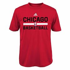 Youth S Chicago Bulls adidas ClimaLITE Practise Short Sleeve T-Shirt H331