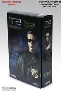 Sideshow Exclusive 12 inch T-800 Figure From TERMINATOR 2 Judgement Day MIB