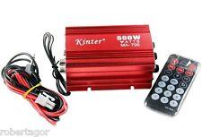 AMPLIFICATORE AUDIO 12V USB MP3 CASA AUTO 2 CANALI STEREO 500W TELECOMANDO MA700