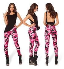 Pants Women Leggins Harajuku 3D Pink Camouflage Black Milk Punk Galaxy Print  15