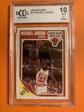 1989/90 FLEER **MICHAEL JORDAN** #21 🐐🔥GEM MINT 10 BCCG  *BEST PRICE*