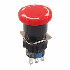 Red Mushroom DC 30V 5A AC 250V 3A Emergency Stop Push Button Switch SH Y1C2 F6W5