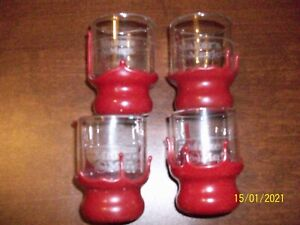 Makers Mark Whiskey Shot Glasses Dipped Red Wax - SET OF 4