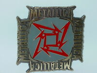 METALLICA STAR LOGO COLLECTIBLE HEAVY METAL BELT BUCKLE JAMES HETFIELD NOS