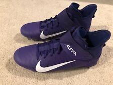 Nike Alpha Menace Pro 2 Football Lacrosse Cleat Black Size US 12 Purple White
