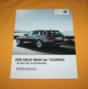 BMW 3er Touring 2012 Prospekt Brochure Depliant Prospetto Catalog Folder