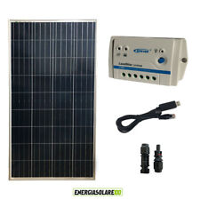Kit Pannello Solare 150W 12V  Regolatore PWM 10A 12V Epsolar serie LS con cavo U