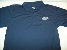 Chicago Fire Department Navy Polyester Golf Polo
