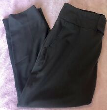 ALVIN VALLEY Brown Crop Capri Pants Size 36 or 6 US, Flat Front, Tapered Leg