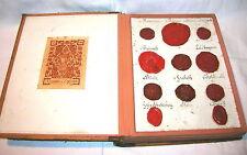 Rara encuadernadas colección Deutscher adelssiegel siglo 19.