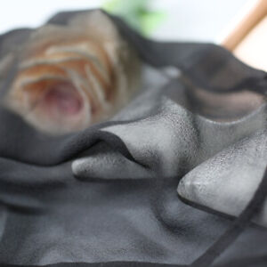 100% Silk transparent Chemise Nightgown Nightdress Full Slip with straps JN016