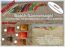 YACCU BEACH-SONNENSEGEL FISCHE SONNENSCHIRM CAMPING STURM WIND STRAND