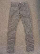 FANTASTIC TOPSHOP STRETCHY JEANS/TROUSERS- SIZE WAIST 26-GREAT LOOK!