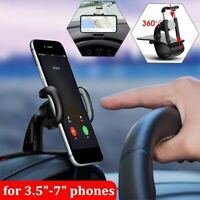 360°Universal Cell Phone GPS Car Dashboard Mount Holder Stand Hud Clip on Cradle