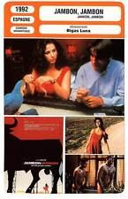 FICHE CINEMA : JAMBON JAMBON Cruz,Sandrelli,Galiena,Bardem,Luna 1992 Jamon,Jamon