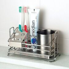 Stainless Steel Premium Toothbrush Toothpaste Cup Holder Stand for Bathroom