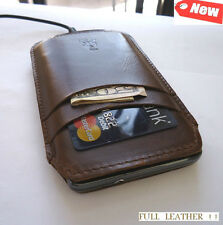 real leather Case cover purse pouch phone fit samsung galaxy s i9000 s1 1 brown