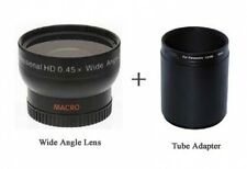 Wide lens + Lens Adaptor Tube bundle for Panasonic DMC-FZ60 DMC-FZ60K
