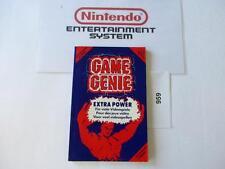 Nintendo NES manual: GAME GENIE code book   ***100% original***