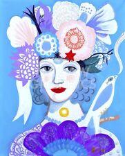 "ART PRINT POSTER 14/"" X 11/"" LADY ANTONIETTE 4519 LAGUNAS MERCEDES"