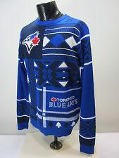 Toronto Blue Jays MLB Ugly Crew Neck Blue White Red Men's M Sweater