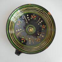 Céramique terre cuite émaillée coupe vide-poche art nouveau déco fait main N5582