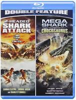 2-Headed Shark Attack / Mega Shark Versus Crocosaurus [Blu-ray] Brand New sealed