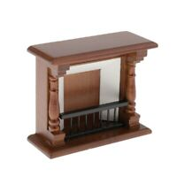 1/12 Scale Dollhouse Miniature Furniture Fireplace for Doll House,Birthday Gifts
