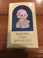 Precious Moments Ornament 520462 Christmas Is Ruff Without You 1988 MIB