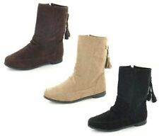 Ladies Spot On Flat Ankle Boots Sizes 3-8 F4359