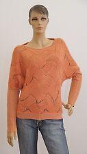 ORSAY Langarm Pullover orange Strick Damen Größe 38 (1704A-B-OH3)