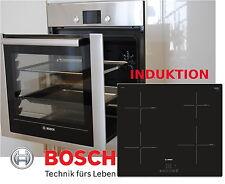 Bosch einbau Herd Set Autark Backofen Ausfahrbar Backwagen + Induktion Kochfeld