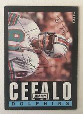 1985 Topps Jimmy Cefalo #307 AUTOGRAPH