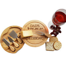Personalised Wood Cheese Board & Integrated Knife Serving Set, Christmas Platter