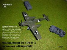 """Messerschmitt Bf 109 E-4 mit """"Wurzelsepp""""  1/72 Bird Models UMbausatz/conversion"""
