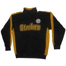 New Men's NFL Pittsburgh Steelers Nylon Jacket Football Black/Yellow Large