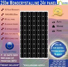 250 Watt 24V Mono Solar Panel 250w ~ Freight Inclusive!*