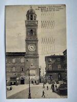 MACERATA torre comunale vecchia cartolina animata