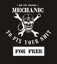 Funny Mechanic Don't Work for Free 100% Cotton, Black Hooded Valentines