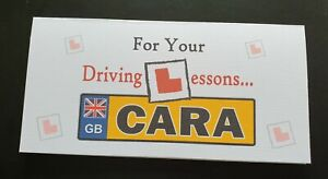 *DRIVING LESSONS* LEARNING TO DRIVE 17th BIRTHDAY GIFT WALLET/REG PLATE - THEORY