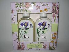 Crabtree & Evelyn Iris Body Lotion, Bath & Shower Gel 8.5 Oz Each