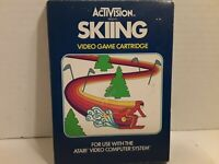 Skiing (Atari 2600, 1980)*AUTHENTIC*CARTRIDGE*BOX*MANUAL*