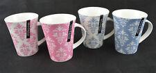 New Bone China Set of 4 Tea Coffee Mugs Home Office 2 assorted patterns