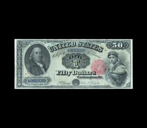 """ULTRA RARE 1880 $50 LEGAL TENDER """"FRANKLIN"""" STRONG VERY FINE"""
