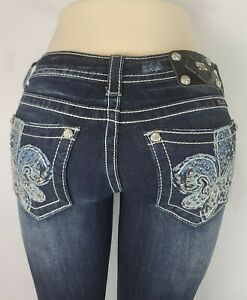 Miss Me Boot Low Rise Slim Fit Stretch Women's Denim Jeans 26 x 34 JP5832B