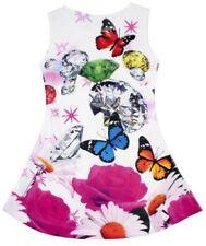 Vestidos de niña de 2 a 16 años multicolor de poliéster