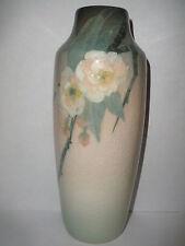 "Antique 1908 Rookwood Iris glaze 8"" vase by Clara Lindeman apple blossoms"