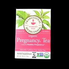 100% CERTIFIED ORGANIC PREGNANCY TEA BY TRADITIONAL MEDICINALS HERBAL 16 BAGS