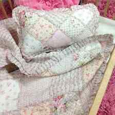 Shabby Barn Cottage Pottery Pink Chic Rag Sofa Throw Rug Cot Crib Quilt &Cushion